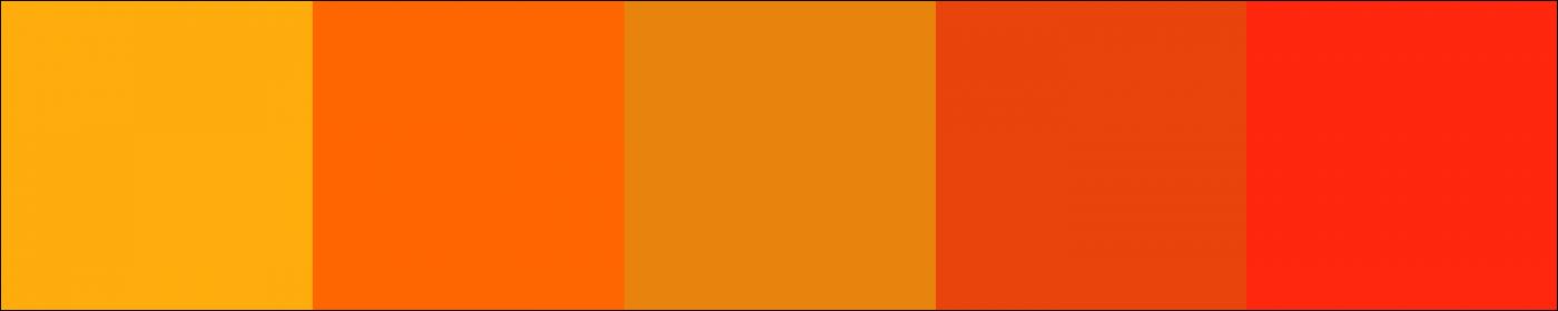 Một số màu sắc tone cam đất